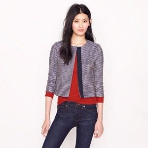 J. Crew Navy Tweed Jacket
